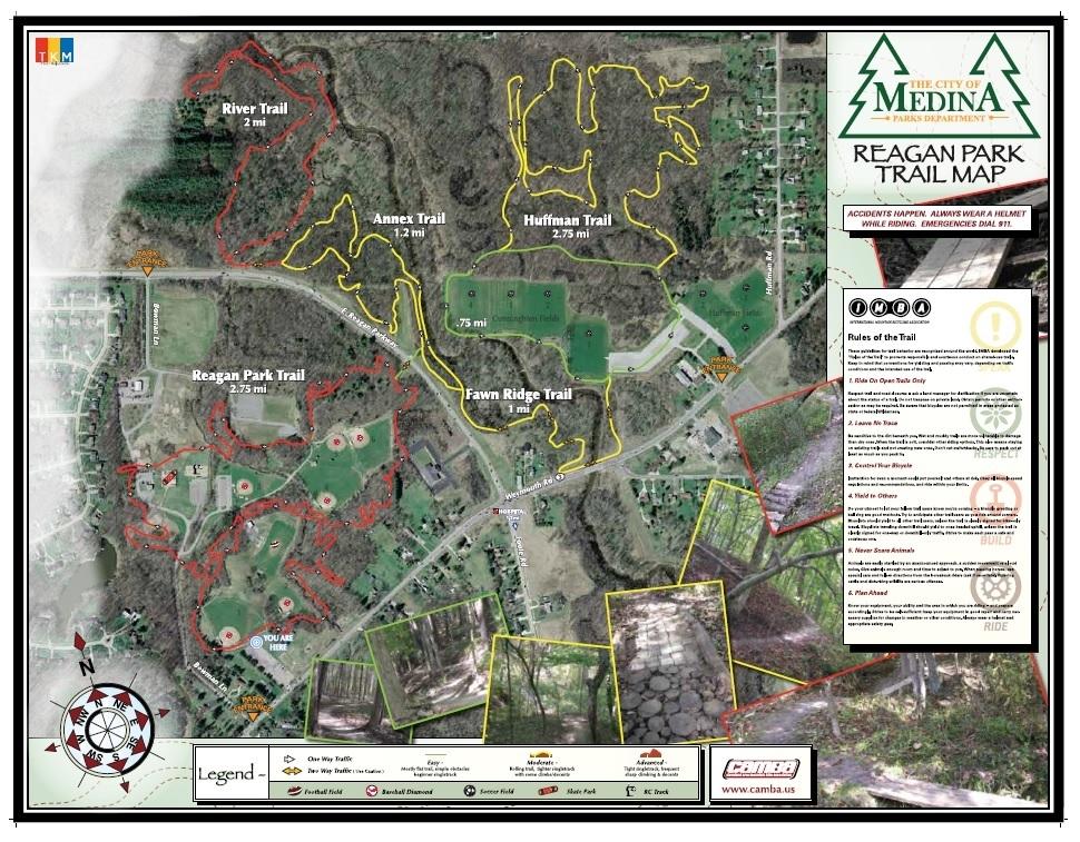 Bike Trails In Ohio Map.Mountain Bike Trails Map The City Of Medina Ohio