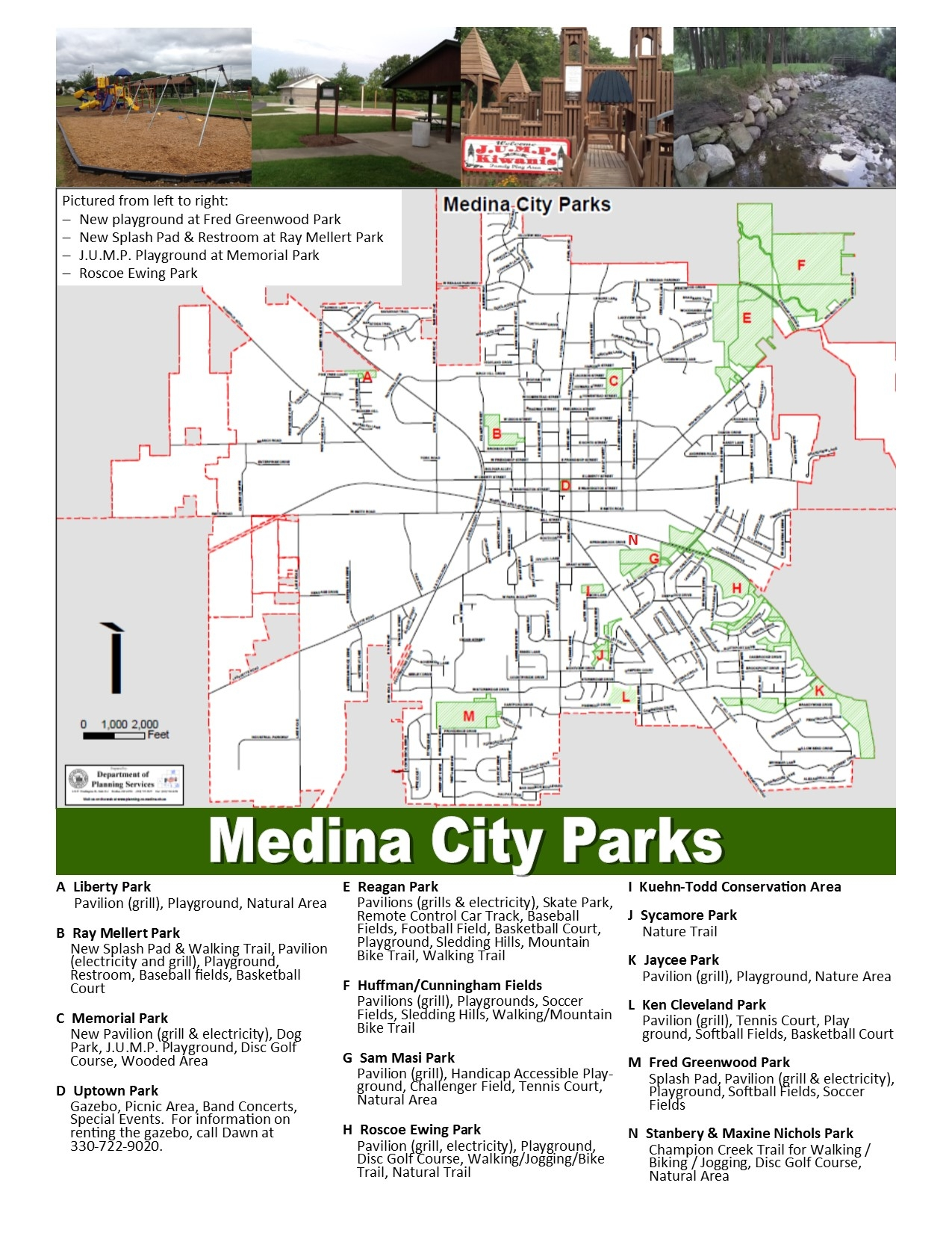 Medina City Parks Map | The City of Medina Ohio