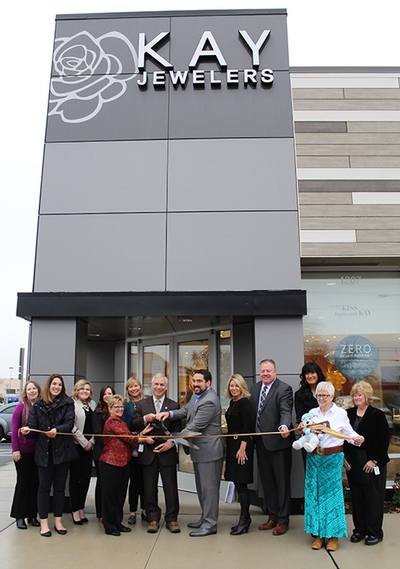 Kay Jewelers Ribbon Cutting in front of store