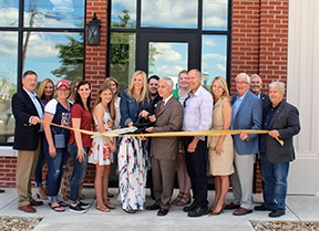 Official ribbon cutting for Lucy Marie's Boutique